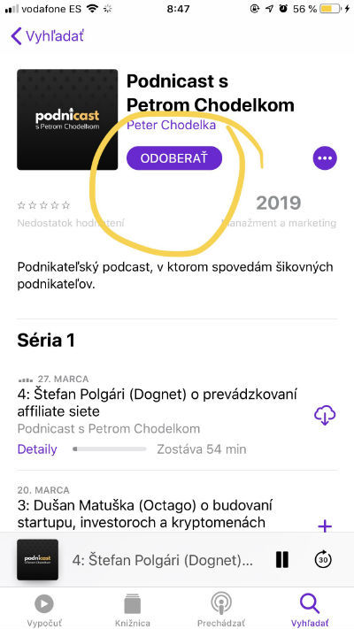 Apple podcasty