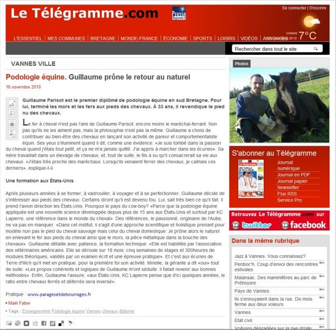 article télégramme internet