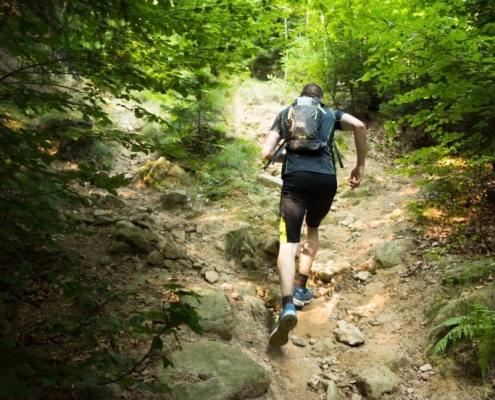 sport trail running course en nature