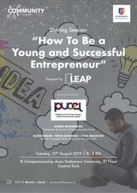 Sharing Session: How to Be a Young and Successful Entrepreneur