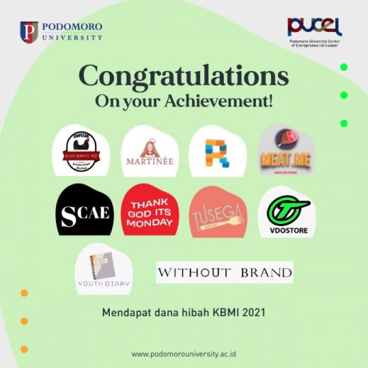Sepuluh (10) Kelompok dari Podomoro University Berhasil Mendapatkan Dana Hibah Kegiatan Berwirausaha Mahasiswa Indonesia (KBMI) 2021