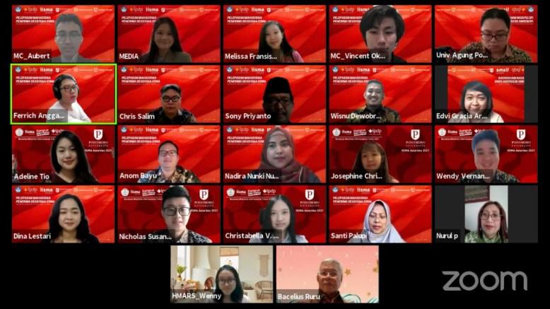 Pelepasan Mahasiswa Penerima Beasiswa Indonesian International Mobility Awards 2021 Universitas Agung Podomoro