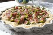 słona tarta z figami, mascarpone i rozmarynem