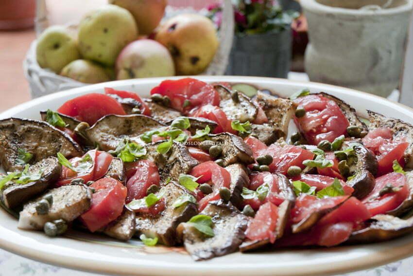 grillowane bakłażany z pomidorami