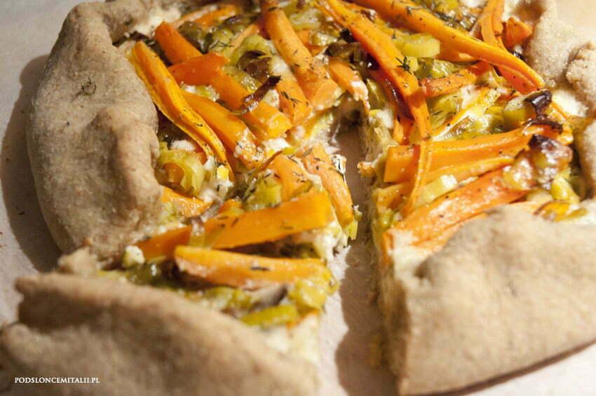galette z marchewką i gorgonzolą