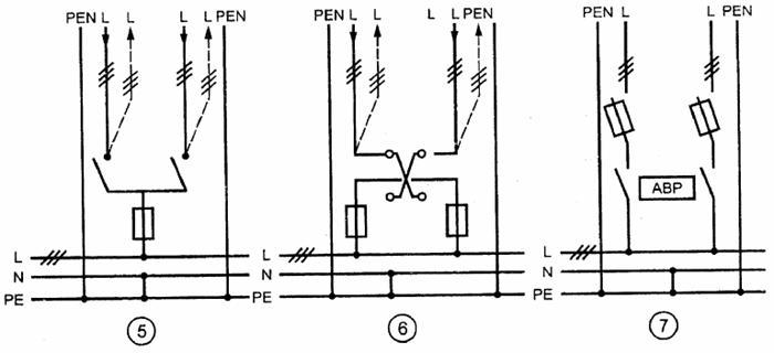 Совмещенные нулевые защитные и нулевые рабочие проводники(PEN-проводники)