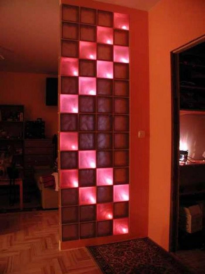 Стеклоблоки - освещение в стиле Тетрис