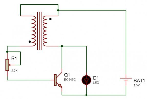 Светодиодный фонарь схема