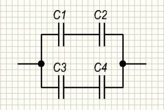 Смешанная схема соединения конденсаторов