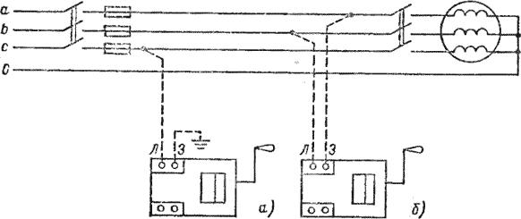 схема подключения устройства в трехфазной цепи