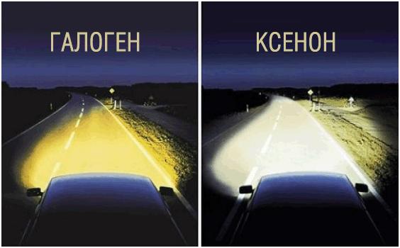 Отличия свет от галогена и ксенона