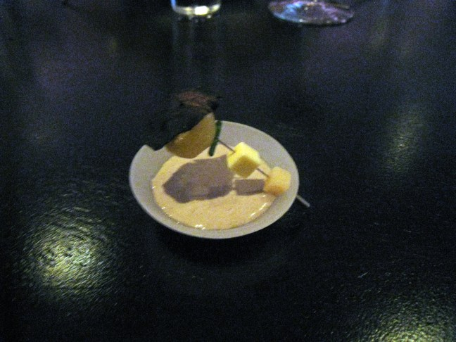 potato soup at Alinea, Chicago