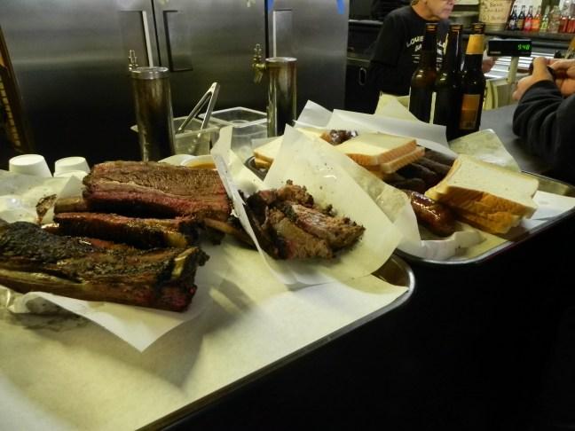 Brisket at Louie Mueller Barbecue in Taylor