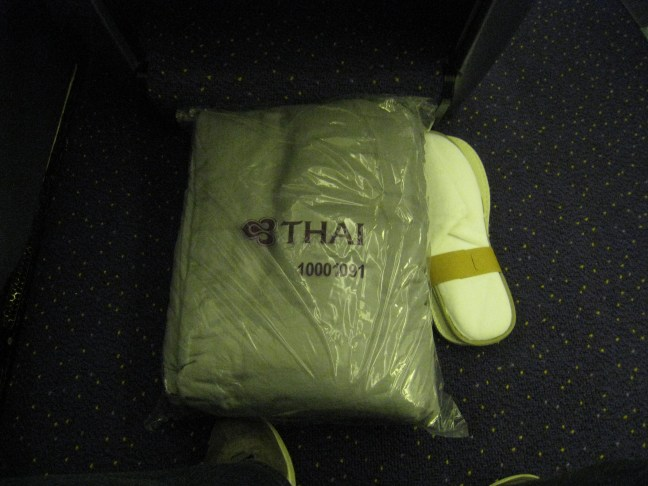 Thai Airlines first class pajamas