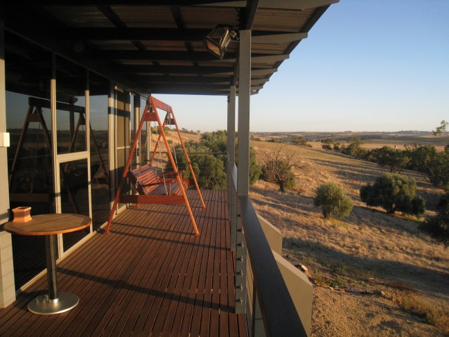 Deck overlooking Barossa Plains in Australia