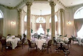 The breakfast room at Hotel Maria Cristina. Gorgeous.