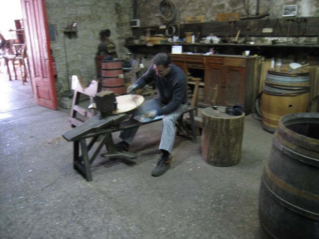 Barrel making at Lopez de Heredia in Haro, Spain