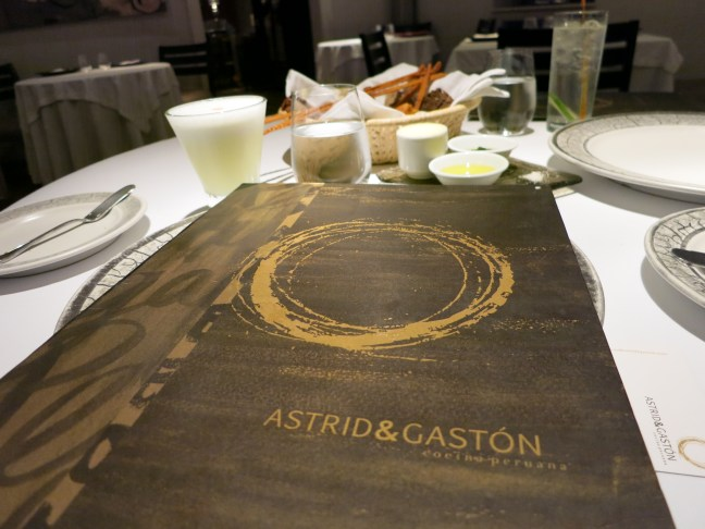 Dinner at Astrid & Gaston, Lima Peru