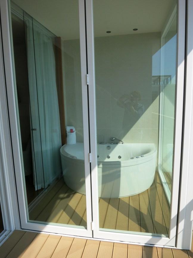 Patio hot tub at Villa Dubrovnik
