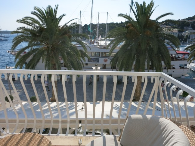 Balcony at Riva Hvar Yacht Harbor Hotel