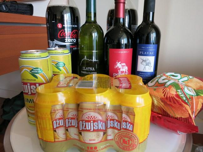 Hotel drinking supplies