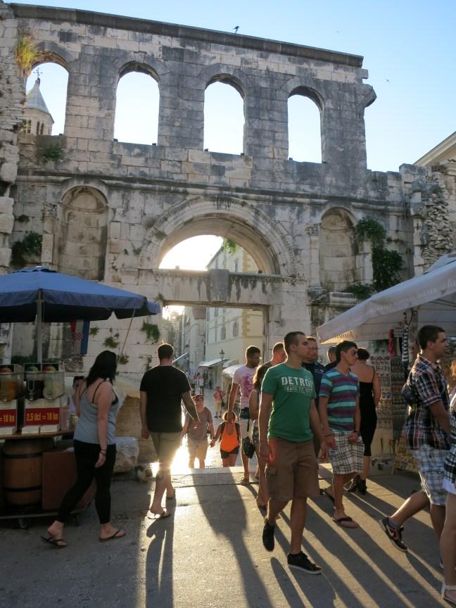 Old wall in Split, Croatia