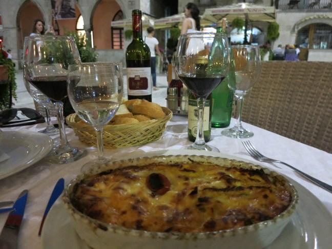 Lasagna in Split, Croatia