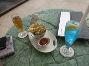 drinks and sambal
