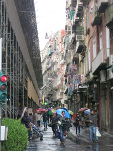 rainy street in Naples