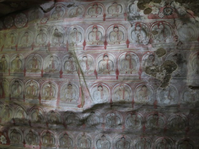Cave paintings in Dambulla