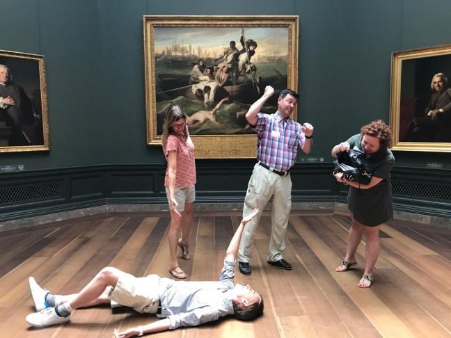 Museum Hack tableaux vivant