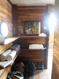 Bathroom at Manta's underwater room