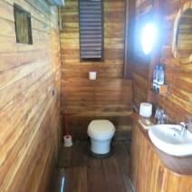 Toilet at Manta's underwater room