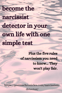 Be a Narcissism Detector with this 1 Simple Test - Poema