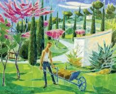 Jardinier aux arbres de Judée