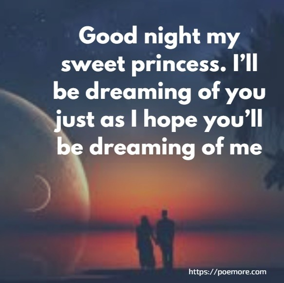 Good night romantic love messages for her