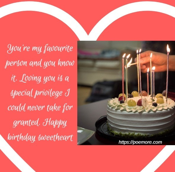 Romantic Birthday Wishes Messages For Her