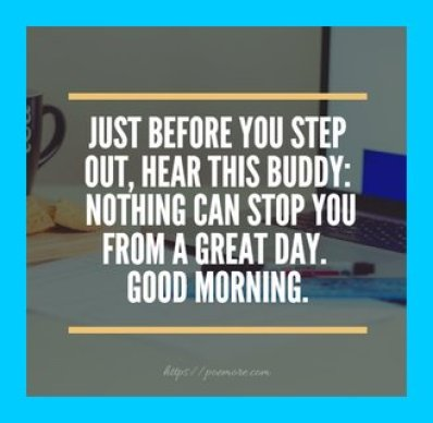 Good Morning Motivation