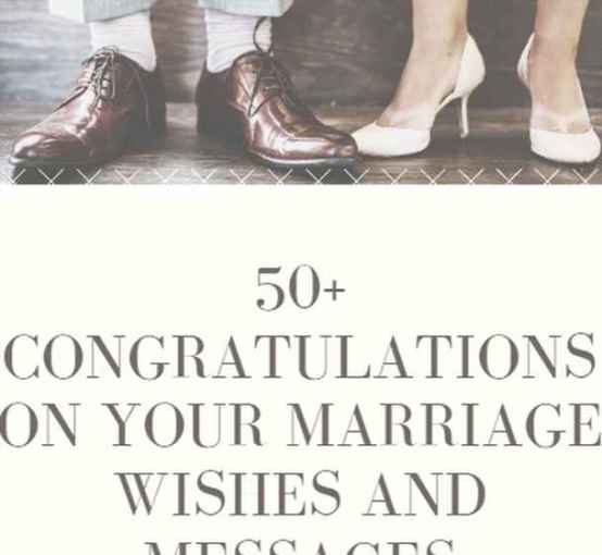 Friends Congratulatory Marriage Wishes Messages