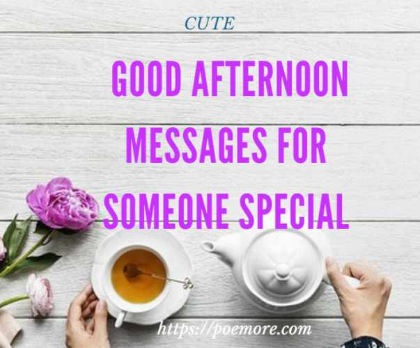 Good afternoon love messages for girlfriend