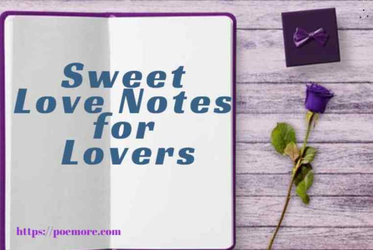 Sweet Love Notes for Lovers