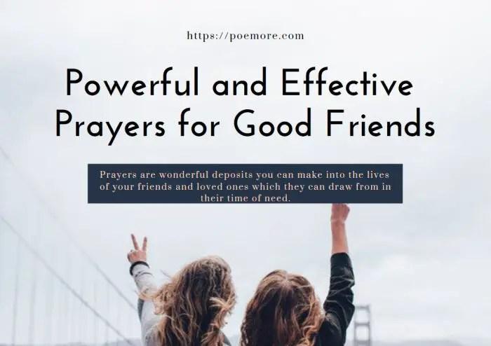 Prayers For Good Friends