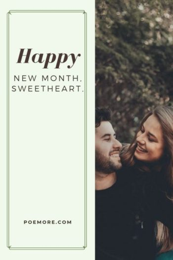 Happy New Month Text Message my Love