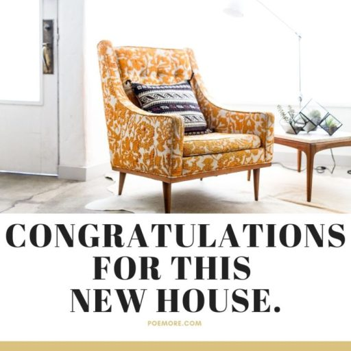 Congratulations for New Home Wishes