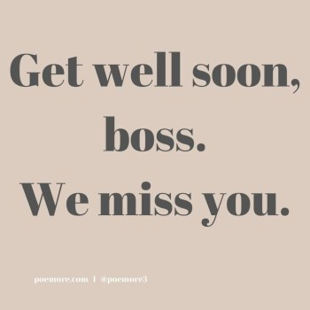 Get Well Soon Quotes to Boss
