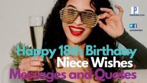 Happy 18th Birthday Niece Wishes