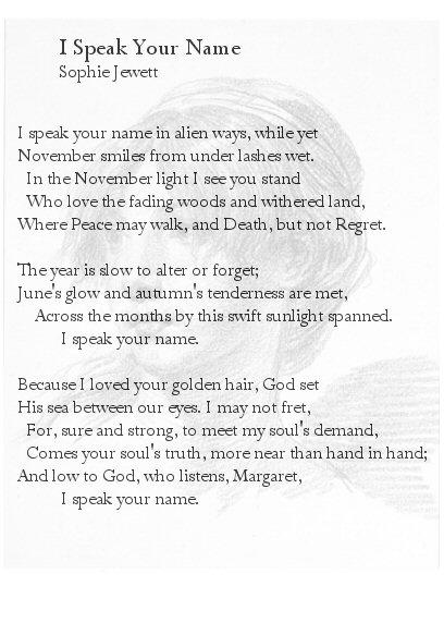 I Speak Your Name (w Portrait)