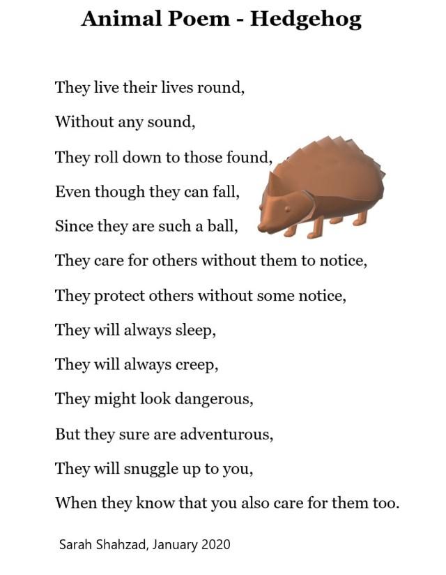 Hedgehog - Poem The Art - Expressing oneself is art