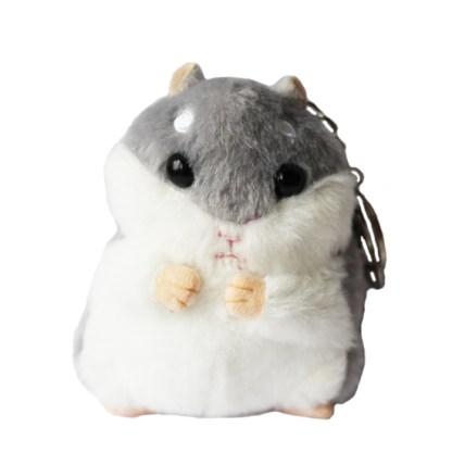 Sleutelhanger hamster grijs