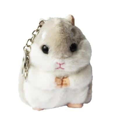 Sleutelhanger hamster licht beige